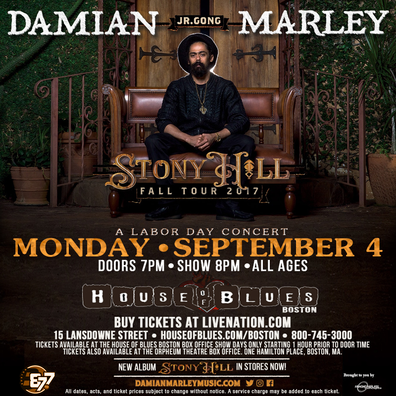 Buy Stony Hill Tour Labor Day at House Of Blues